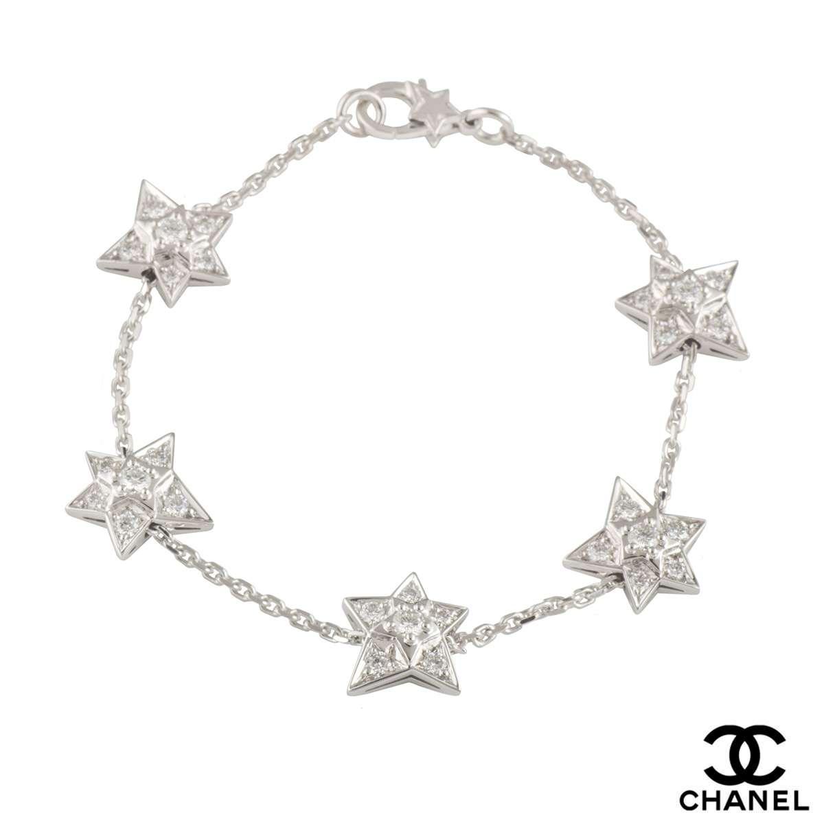 Chanel White Gold Diamond Comete Bracelet 0.90ct D-F/VVS1